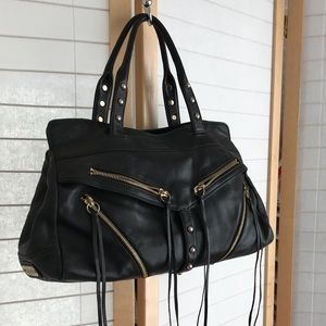 Large Botkier bag in black leather 2 top handles